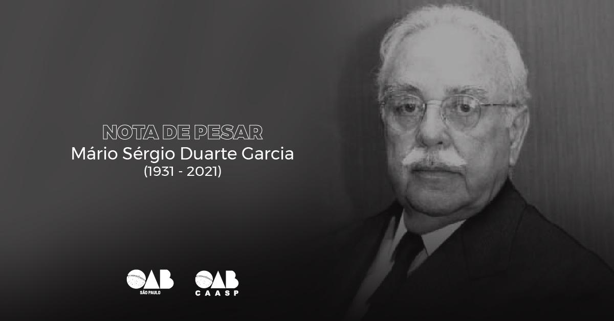 OAB SP decreta três dias de luto oficial pelo falecimento de Mário Sérgio Duarte Garcia