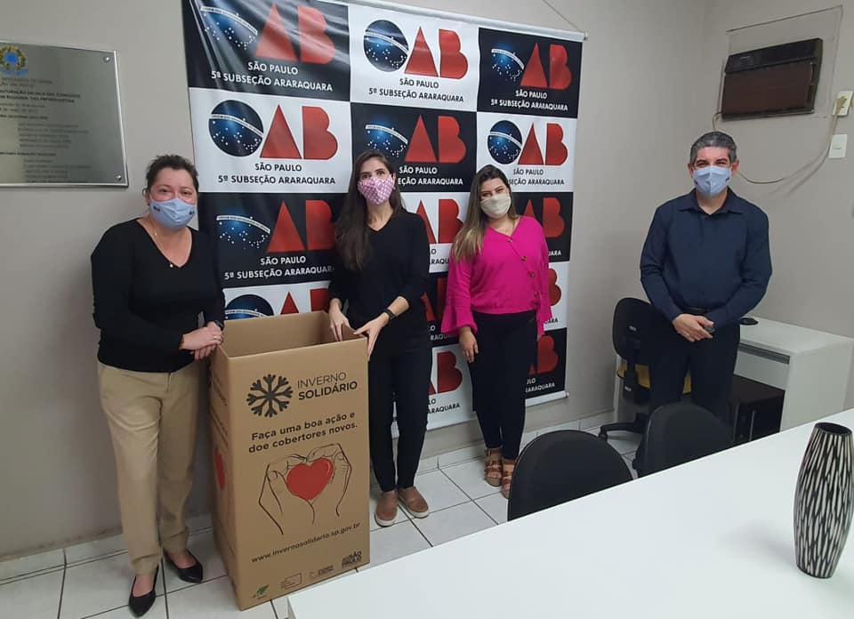 OAB Subseção Araraquara participa da Campanha do Agasalho