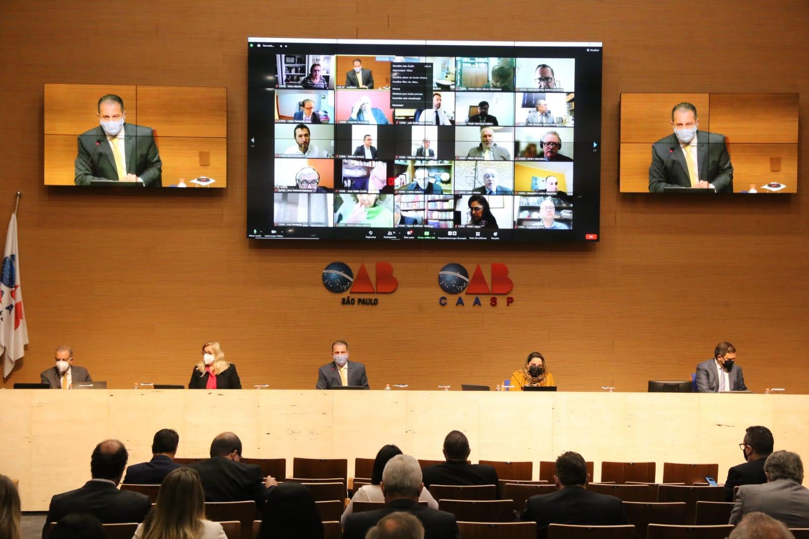 OAB SP realiza sua 2.475ª Sessão Ordinária do Conselho