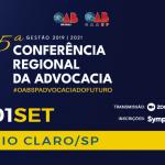 15ª Conferência Regional da Advocacia chega à região de Rio Claro